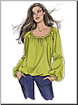 Vogue 8581 Pattern ( Size 8-10-12-14-16 )