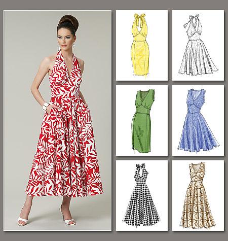 Vogue Patterns 8727 Misses' Dress Vogue Easy Options