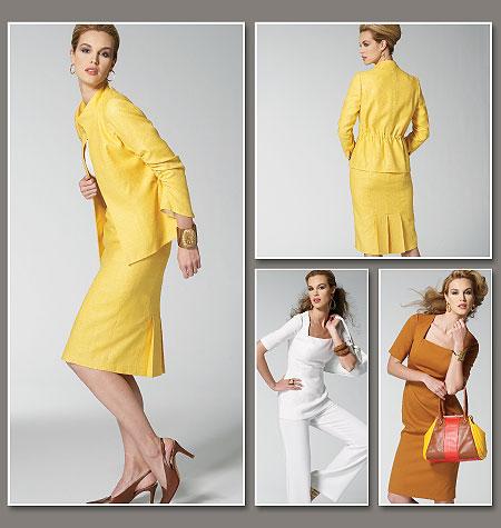 Vogue Patterns 8799 Suit Including Jacket Top Dress Skirt And Pants
