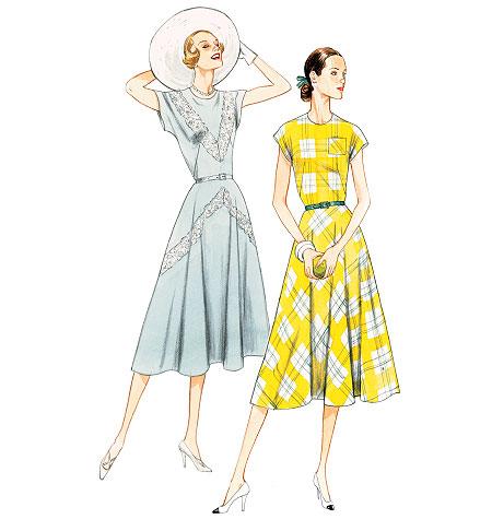 Vogue Patterns 40 Misses' Dress And Belt New Vintage Vogue Patterns