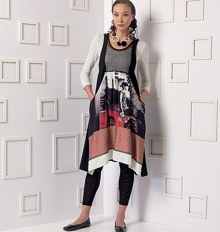 Vogue Patterns 9108 Misses Top Dress And Leggings