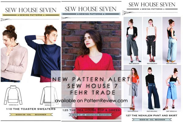 New Indie Patterns from Sew House 7 and Fehr Trade! 10/21/16 ...