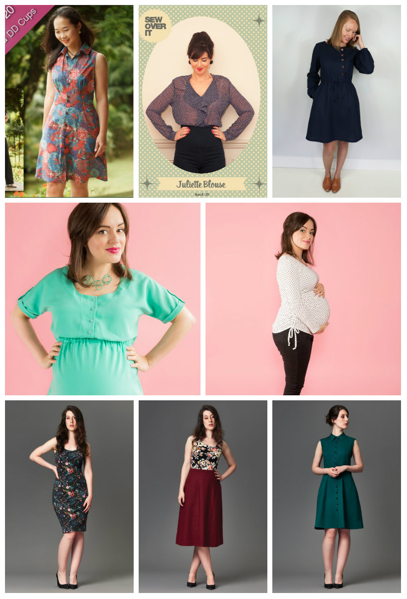 4aeed71390591 This month there are 8 new patterns represented by 5 of our tried-and-true  independent pattern designers. Dresses, blouses, tops and maternity ...